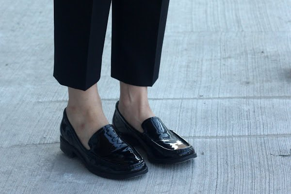 black Franco Sarto flats for work