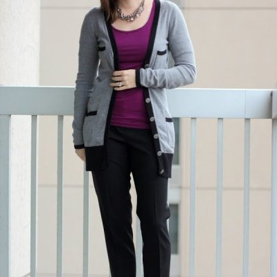 Purple & Gray at Work | Sophisticated Style Link Up