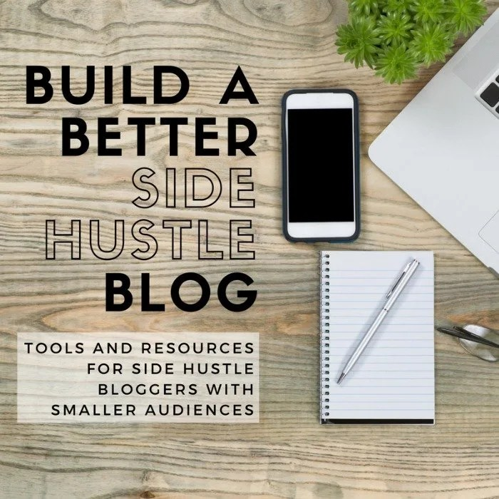 Have a side hustle blog and looking for ways to make it easier to manage? Save time and work more efficiently with these tools and resources for niche blogs with smaller audiences.