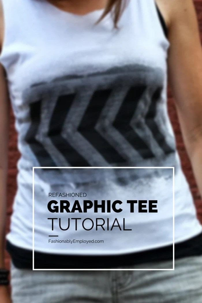 FashionablyEmployed.com | Refashioned Graphic Tee Tutorial | Go Green & Inspire Your Fitness Routine