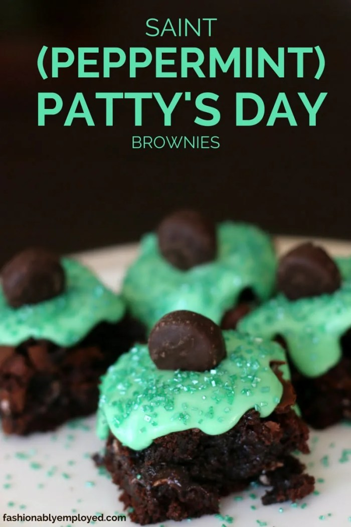 FashionablyEmployed.com | Saint (Peppermint) Patty's Day Brownies