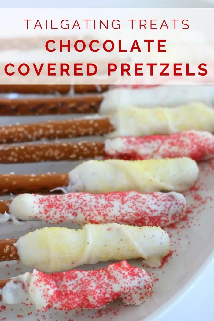 FashionablyEmployed.com | Game Day Style and Snacks | Simple style and easy to make snacks for a perfect tailgating day at the game | Homemade chocolate covered pretzels