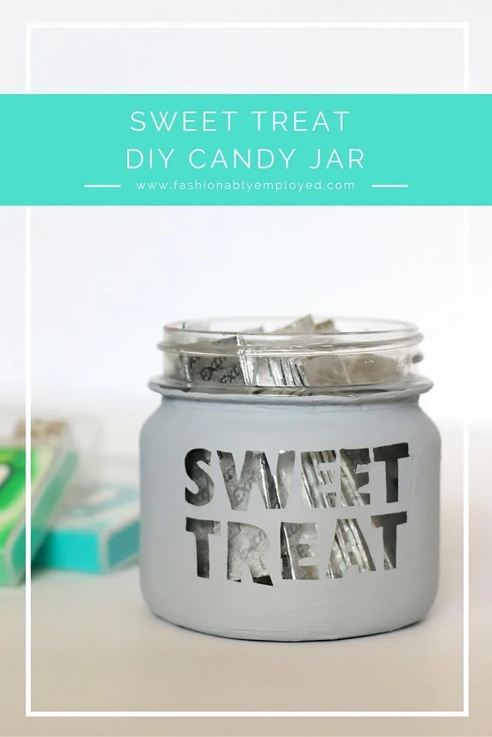 Who doesn't love a cute little candy jar? Check out this quick and easy tutorial, including a video, to upcycle this old mason jar and make into something new and special | DIY candy jar tutorial