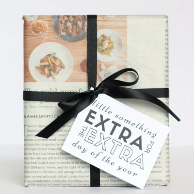 Extra, Extra: A 5 Minute Gift Wrapping Idea