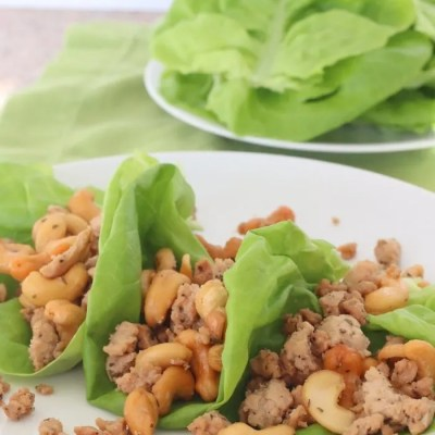 Quick and Easy Meal: Cashew Chicken Lettuce Wraps