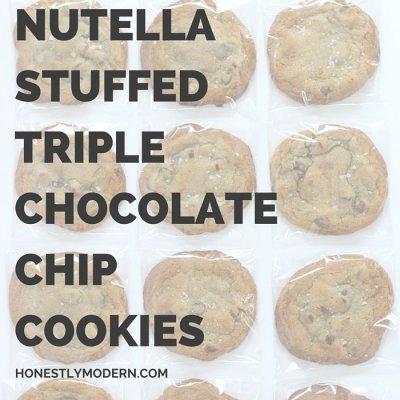 Dessert To Die For: Salted & Stuffed Triple Chocolate Cookies