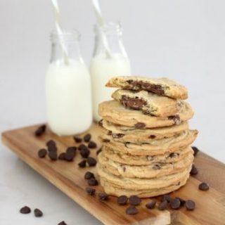 Salted Triple Chocolate Hazelnut Cookies