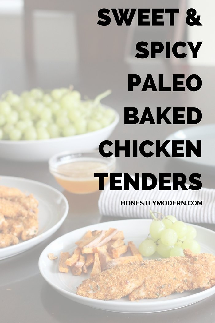 Check out this healthy, Paleo, gluten-free and kid-friendly chicken tender recipe. Sure to be a crowd pleaser!
