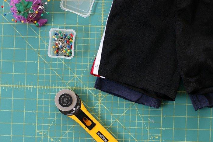 DIY pants to shorts for little boys pants cut