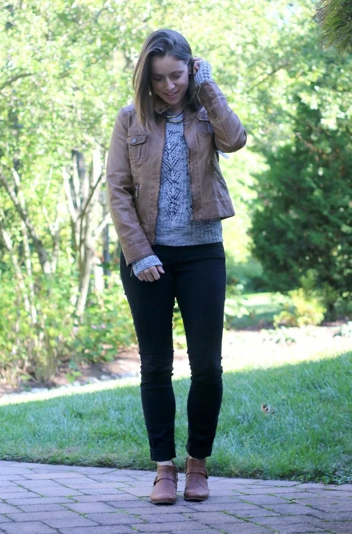 black-jeans-with-gray-sweater-and-cognac-boots-and-faux-leather-jacket-3
