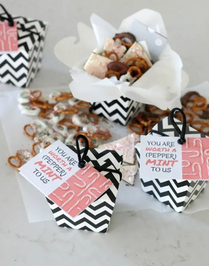 Try this simple and easy holiday gift for teachers to let them know they are worth a mint to you.