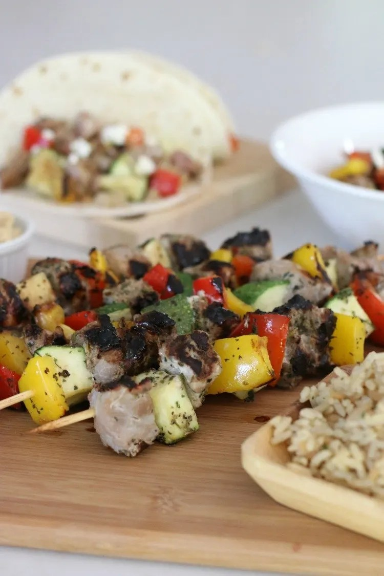 No need to sacrifice real, whole foods even if your family dinner feels like a whirlwind. Try these tasty but easy Mediterranean Hatfield Pork and Veggie Kebabs which can be grilled up in no time for a busy weeknight family meal.