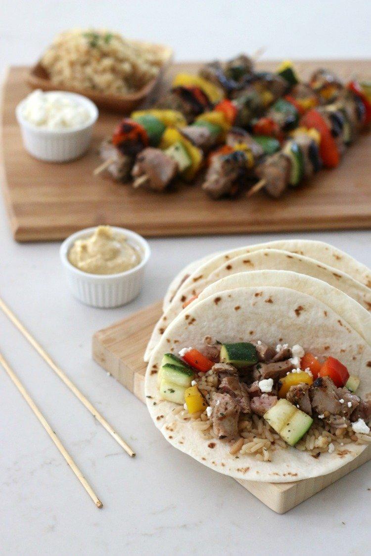 Mediterranean Pork & Veggie Tacos