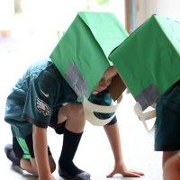 How To Make Easy DIY Cardboard Football Helmets For Kids