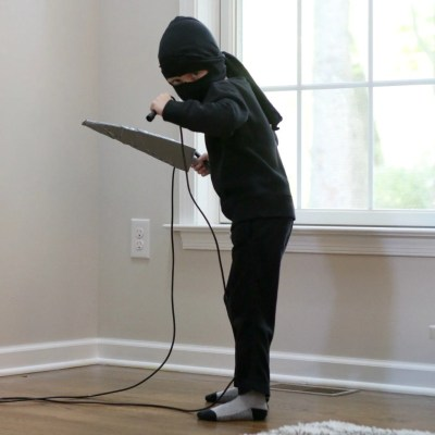 Easy Kids Ninja Costume Made At Home for Halloween
