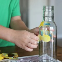 Kids Create | Easy and Fun Upcycled Glass Bottle DIY Project for Kids