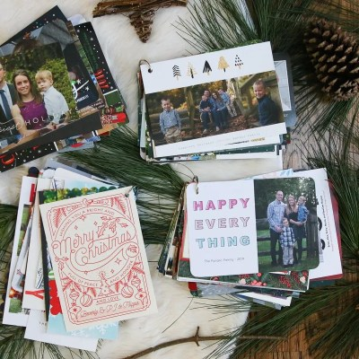 Save Your Holiday Cards For Next Year's Holiday Decor