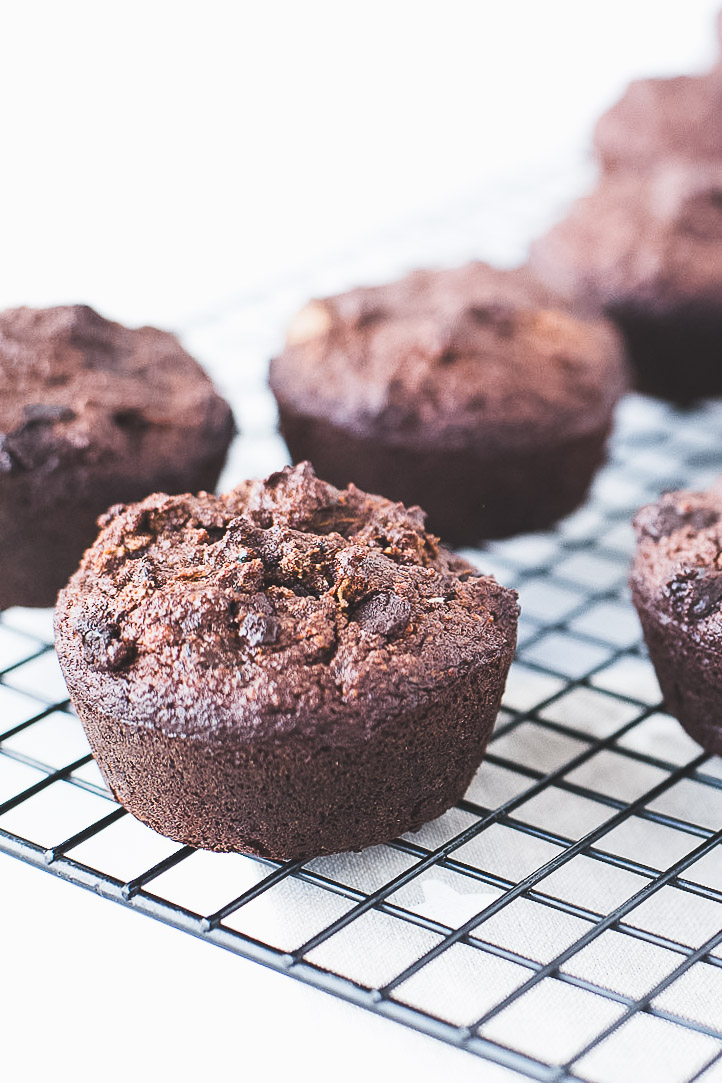 Honestly Nourished Grain-Free Double Dark Chocolate Zucchini Muffins
