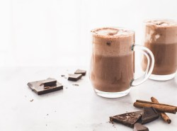 Nourish your body from the inside out with this 6-ingredient immunity boosting hot cocoa recipe that's refined sugar free, wholesome, nutrient-rich and loaded with superfoods. | via Honestly Nourished