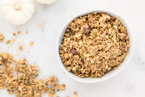 Nut-Free Pumpkin Spice Cranberry Apple Granola
