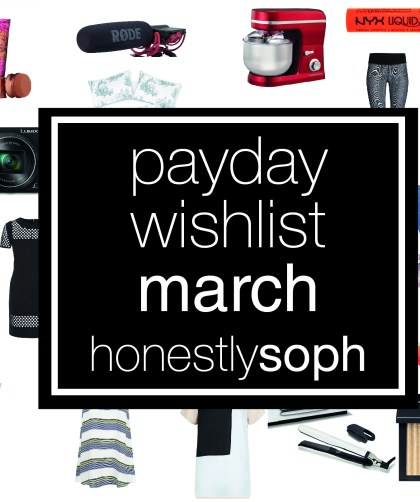 Payday Wishlist March