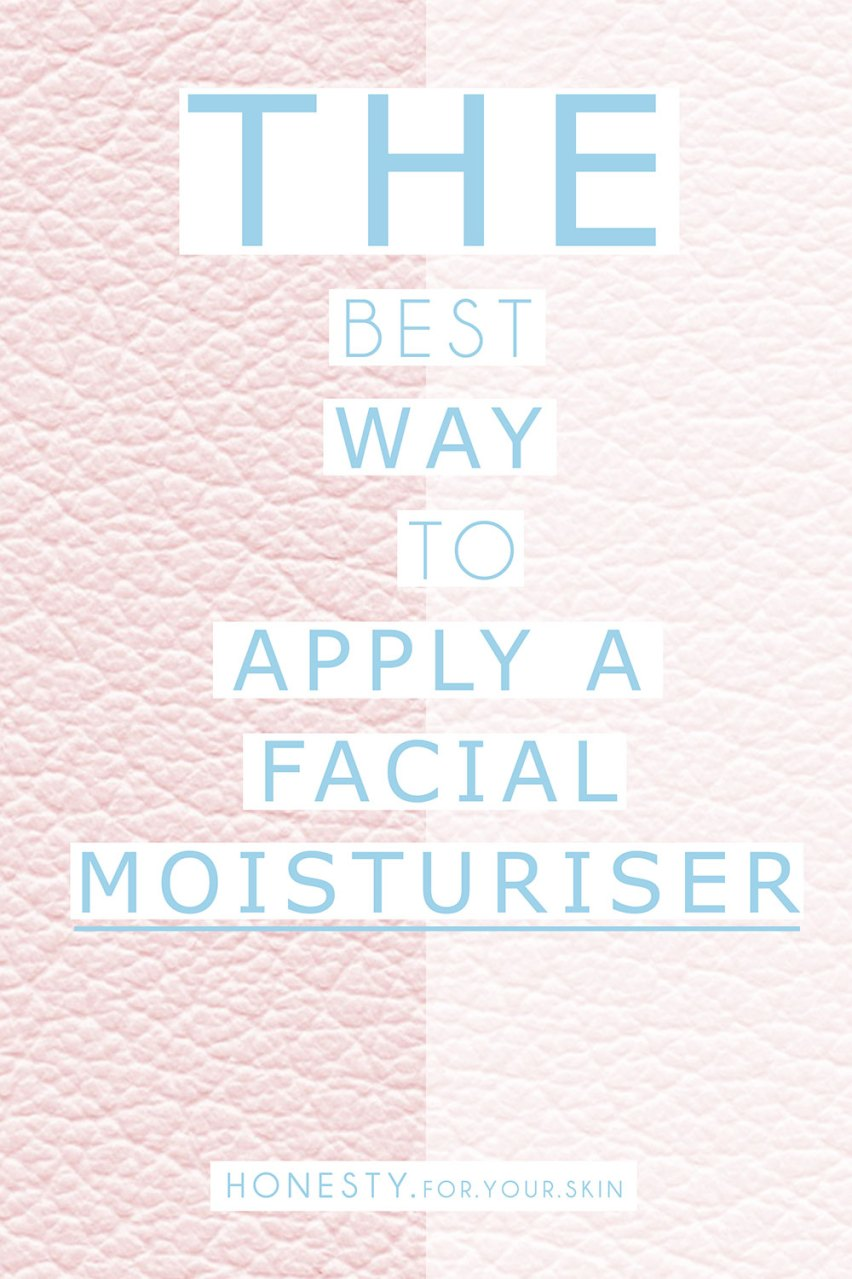 How do you put moisturiser on your face? Have you thought about which is the BEST way? Which makes skin soak it UP best? Are you a dabber, a patter or a rubber? We talk WHICH is best...