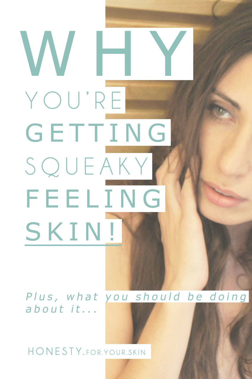 Have you ever had squeaky feeling skin? It's almost 'so clean' that you could eat off it [cue THAT SATC scene where Samantha 'Jewels' herself with sushi]. Squeaky feeling skin, feels smooth & roughness free... but it could actually be aging you, no scrap that squeaky feeling skin IS aging you, here is why and what you should do about it... http://wp.me/p6LuQS-w2