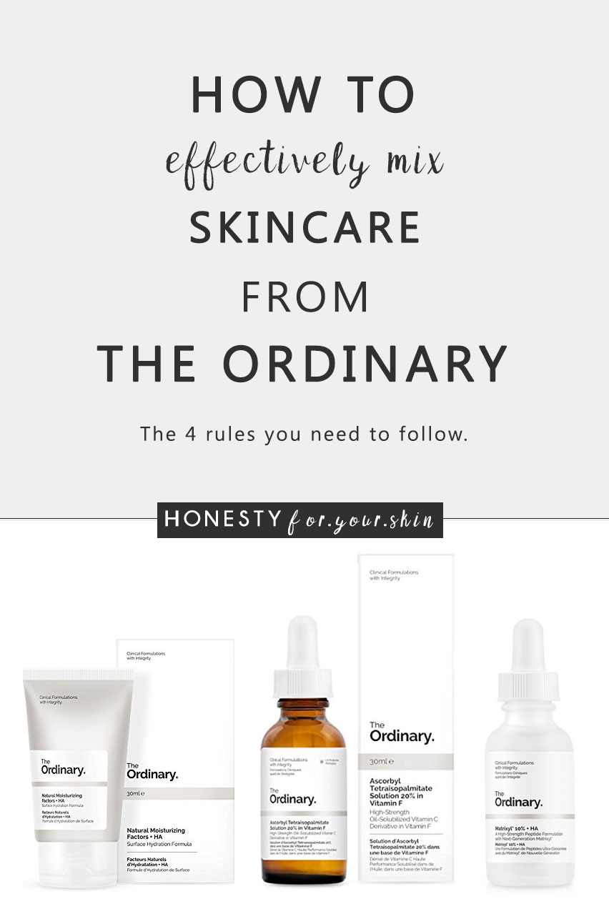 If you're into skincare in even the slightest, like the teeniest, tinniest bit, then you'll almost definitely have heard of the recently launched The Ordinary skincare. If you haven't, know this - it's a game changing skincare shakeup from the self-named 'abnormal beauty company' - DECIEM. Why is The Ordinary skincare range a shakeup? Because this is cosmeceutical skincare (skincare with concentrated active ingredients) at bargain basement prices. But there's one thing you'll need to know before investing – how to mix it together without experiencing a skincare disaster, here's what you need to know my friend…