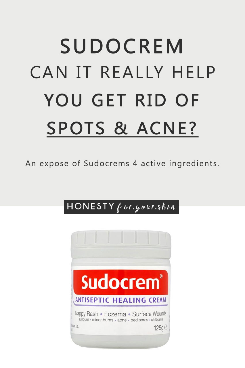 Baby cream on your face? What!? Is it OK? Can it work? Is Sudocrem good for spots? It's white, it's sticky and mums put it on babies bums. Is this for real?
