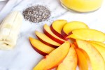 sliced nectarines, chia seeds