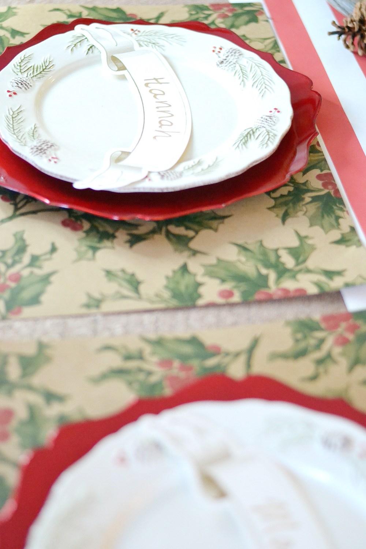Holiday Decor Christmas Table Setting Decor With Hester