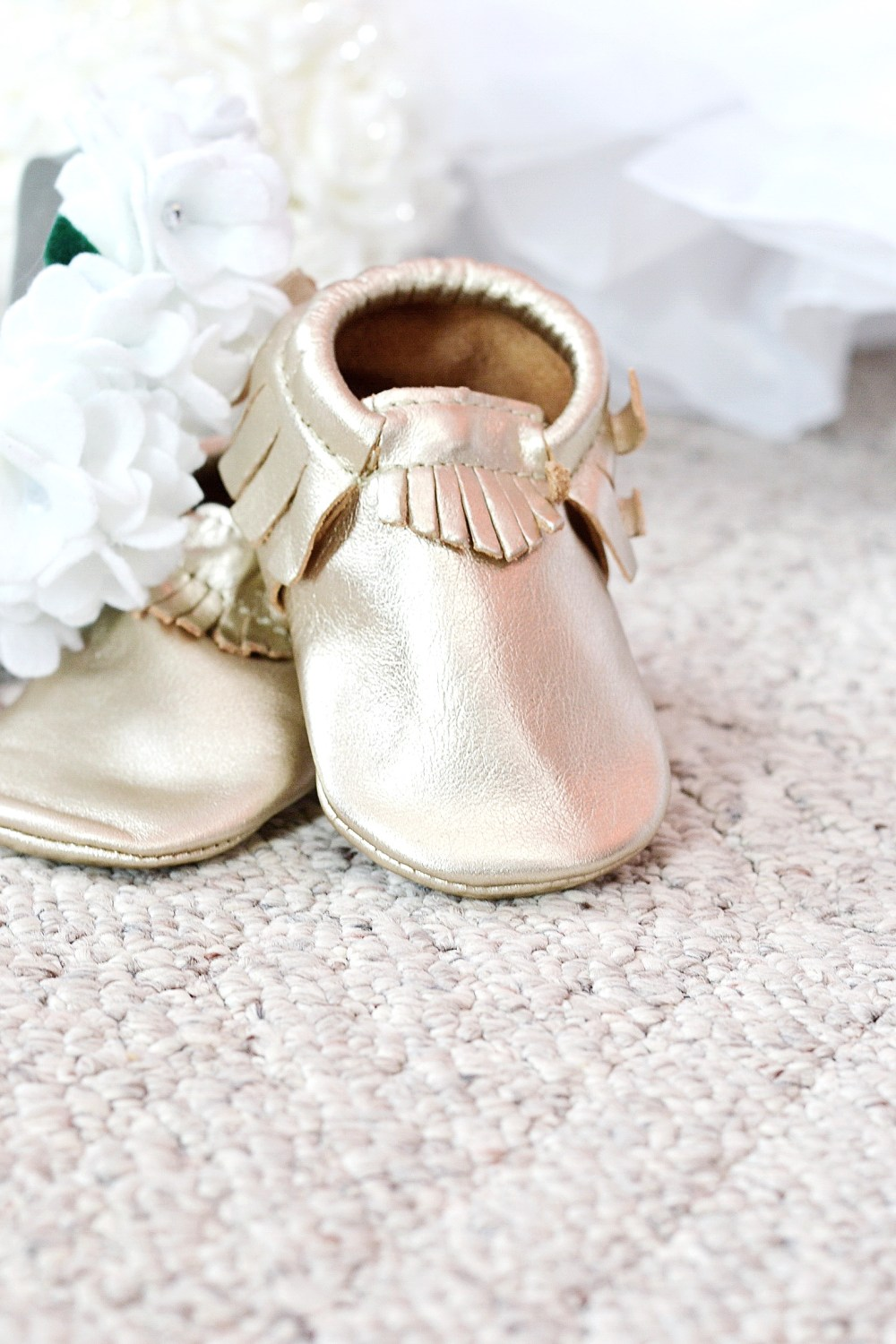Gold Moccs For Wedding