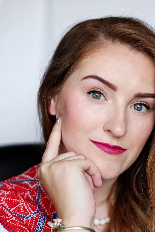 BeautyCounter Bronzer, BeautyCounter Cream Blush, The Body Shop Lipstick