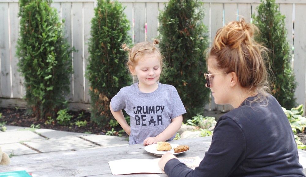 Preschooler Grumpy Bear Tshirt Loved By Hannah & Eli