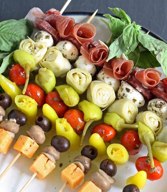 Italian Antipasto Stick Appetizer
