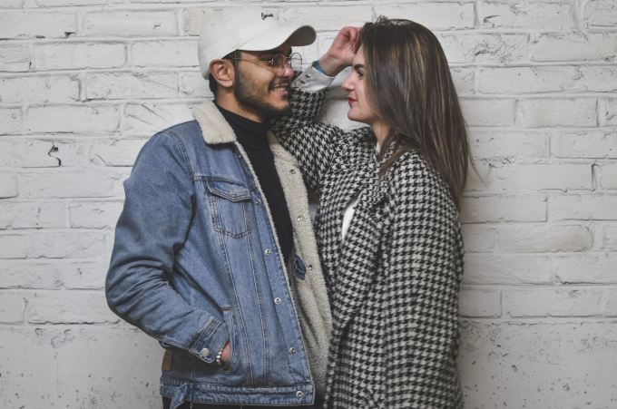 young relationship in trendy clothing