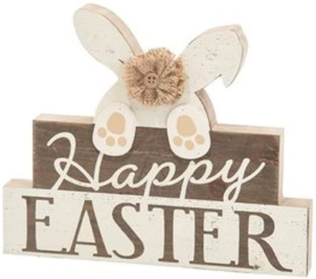 Happy Easter bunny table top sign home decor