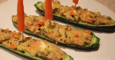 Quinoa Stuffed Zucchini Boats Recipe