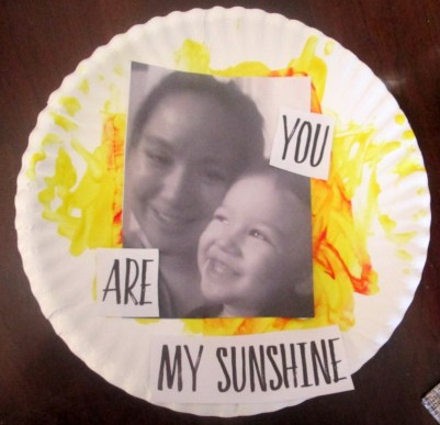 You are my sunshine mothers day craft