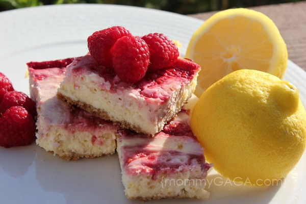 lemon raspberry cheesecake bars recipe