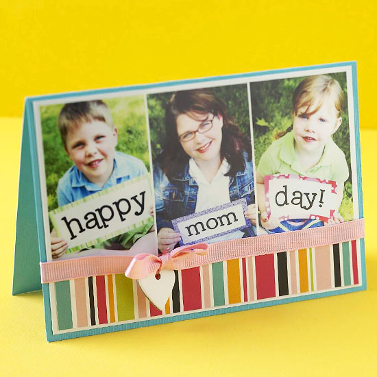 Homemade Mother's Day photo card