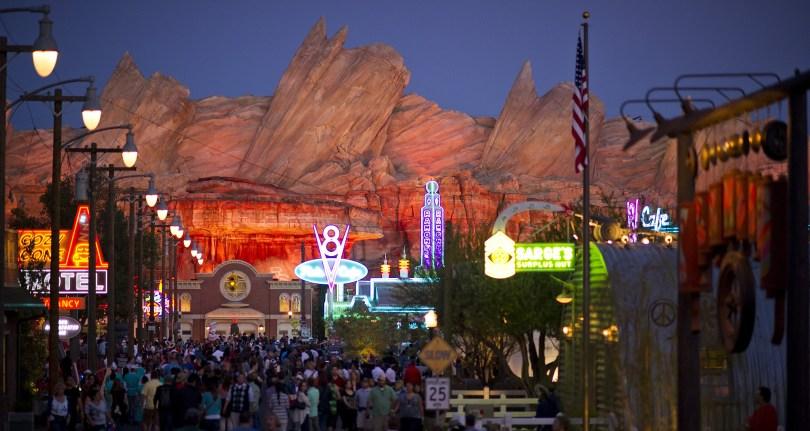 Disney Cars Land at Night - Disney's California Adventure