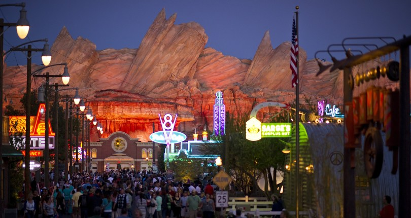 Disney Cars Land at Night