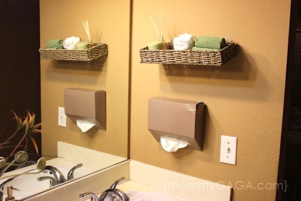 DIY wall mounted tissue box holder
