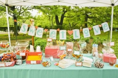 Candy buffet ideas - Pastel Outdoor Candy Buffet