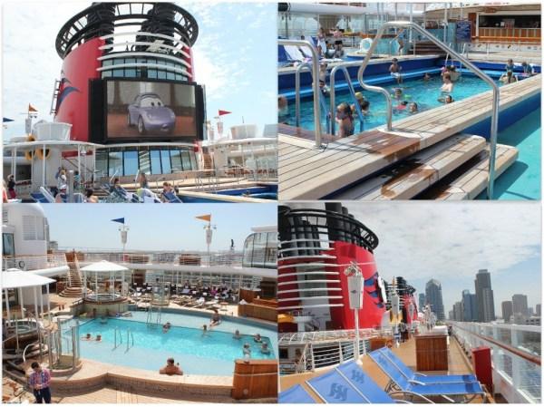 Disney Wonder Outdoor Pool Area and Big Screen