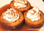 Caramel pumpkin cheesecake bites