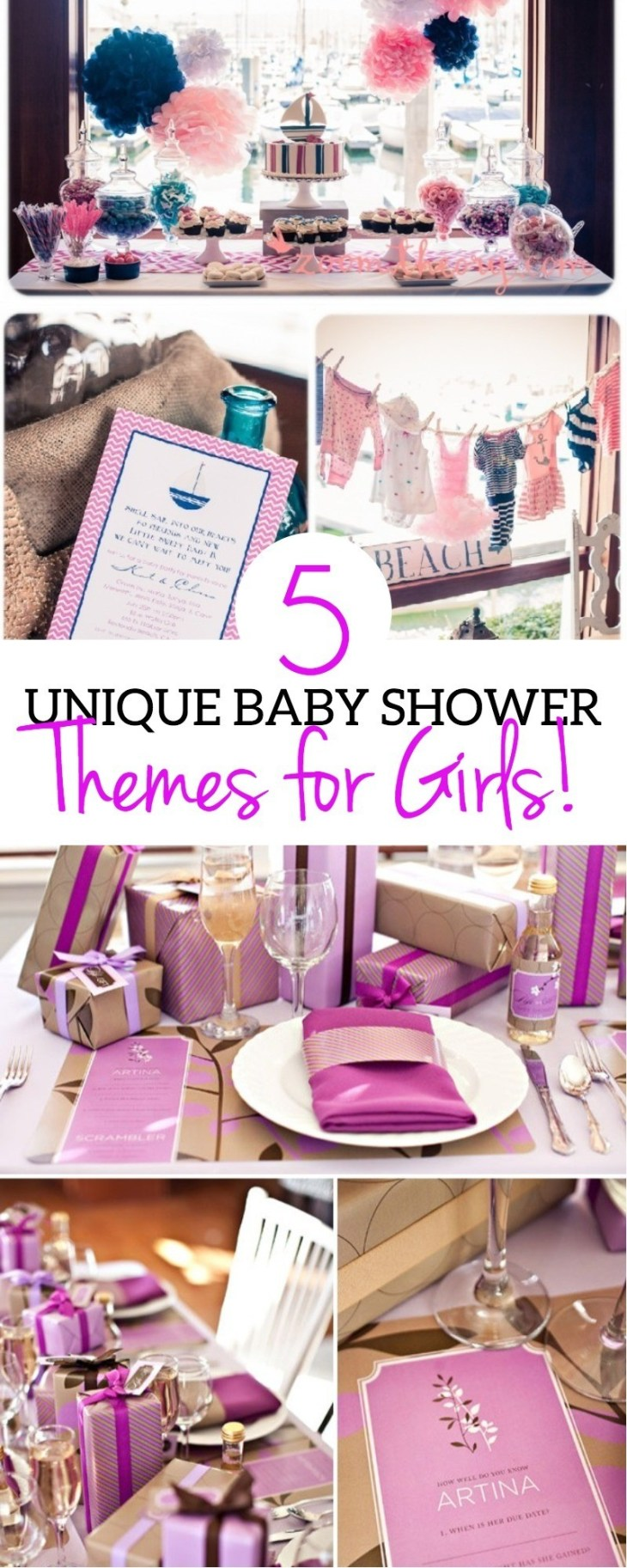 5 Unique Baby Shower Ideas For Girls and Cute Themes - These Are Beautiful  | babyshower