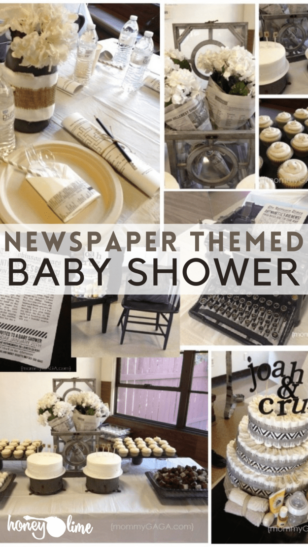 Extra, Extra! Newspaper Baby Shower Theme Idea
