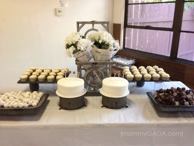 Newspaper Baby Shower Theme- Dessert Table